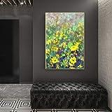 Sadhaf abstracto acuarela floral pared arte cartel e impresión casa floral decorativo lienzo impresión sala de estar decoración de la pared A3 50x70 cm