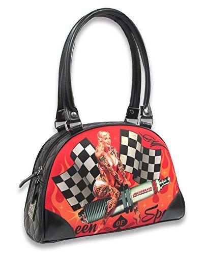 Liquor Brand - Bowling Handtasche - Queen of Speed (Schwarz/Rot)