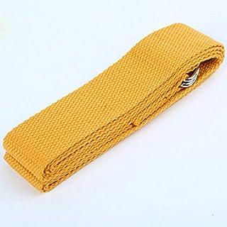Adjustable Sport Yoga Stretch Strap D-Ring Belts Gym Waist Leg Fitness Training Yellow