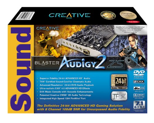 Creative Labs Sound Blaster Audigy 2 ZS Internal Sound Card