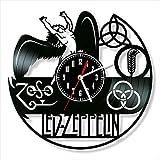 Cumpleaños Led Zeppelin pared del vinilo del disco de vinilo del reloj reloj de pared retro del cumpleaños de Navidad Año Nuevo Personalidad regalo decoración de la pared casa de diseño creativo