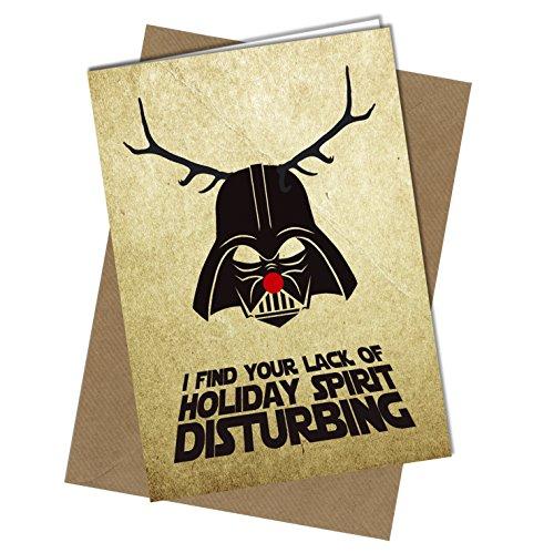 #410 Weihnachtskarte Rude Grußkarte Lustige Humor Witz Star Wars Weihnachtskarte (A4 gefaltet auf A5)
