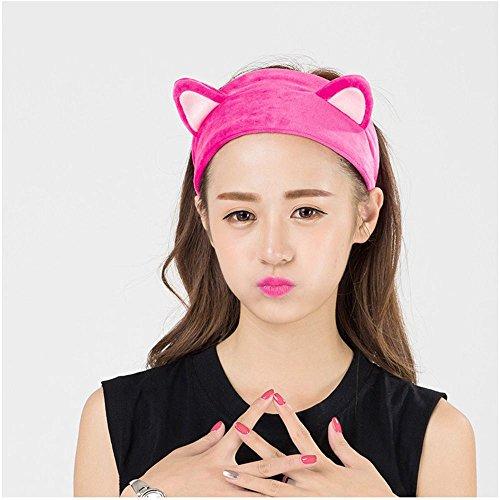 DAWEIF Cute Cat Ear Hair Band For Women Girls Wash Face Makeup Running Sport Tool,Beauty Lovely Spa Head Bands,Party Gift Headdress Hair Accessories