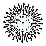 HongLianRiven Reloj de Pared Reloj de Pared de Cuarzo Números Reloj de Pared Reloj de Pared Grande sin garrapatas para la Oficina en el hogar Reloj de Pared con la batería Decoraciones para el hogar