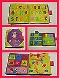 QUIET BOOK . Libri sensoriale con 8 attività. È personalizzato con il nome.