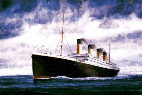 Posterlounge Holzbild 90 x 60 cm: RMS Titanic von Francis Mastrangelo/MGL Licensing