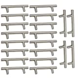 20 Stück Möbelgriff Schrankgriff Küchengriff Bohrlochabst aus Edelstahl Ø 12 mm (128mm (Bohrlochabstand))