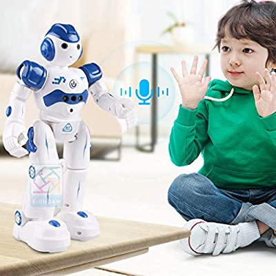 Vkarh Smart Robot, Charging Intelligent Robot Children's Toy Dancing Remote Control Robot Moving Feeling Hearing Speaking Speech Recognition and Dialogue