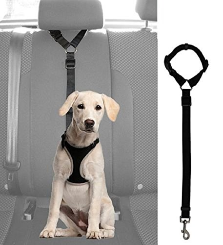 ade_best Adjustable Dog Cat Seat Belt Vehicle Harness Safety Leash Leads
