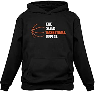 TeeStars- Eat Sleep Basketball Repeat Hoodie