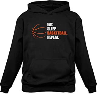 TeeStars - Eat Sleep Basketball Repeat - Gift for Basketball Fans Hoodie
