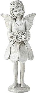 CasaJame Hogar Jardín Decoración Accesorios Adornos Esculturas Estatua en Forma de Duende Fata de Pie Resina sintética 16x...