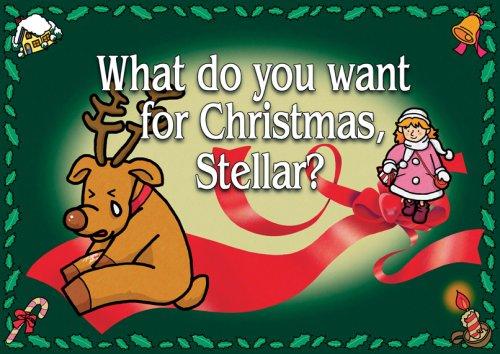 英語紙芝居 What do you want for Christmas, Stellar?