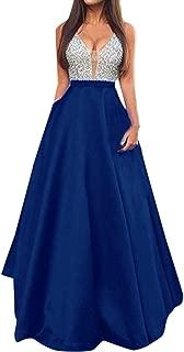 Women Sleeveless V Neck Wedding Dress Elegant Party Evening Slim Maxi Dresses