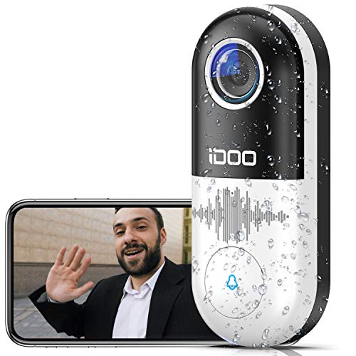 Video Doorbell WiFi,128GB 1080p HD Home Security Front Door Bell...