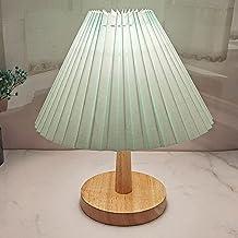 Koreańska plisowana drewniana lampa stołowa lampa stołowa do salonu sypialnia urocza lampa biurkowa z trójkolorową żarówką...