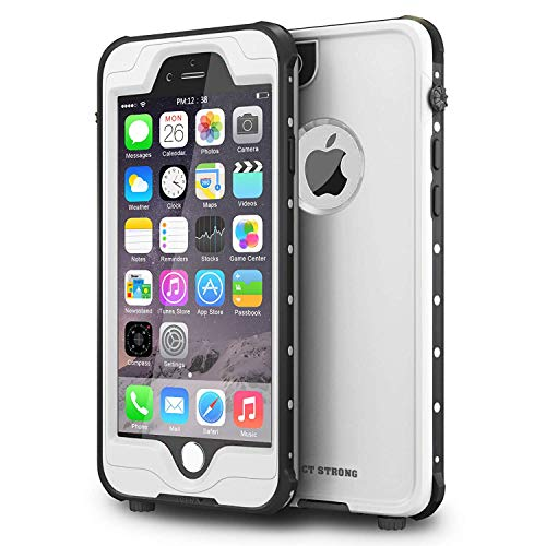 """ImpactStrong iPhone 6 Plus Waterproof Case [Fingerprint ID Compatible] Slim Full Body Protection for Apple iPhone 6 Plus & 6s Plus (5.5"""") - White"""