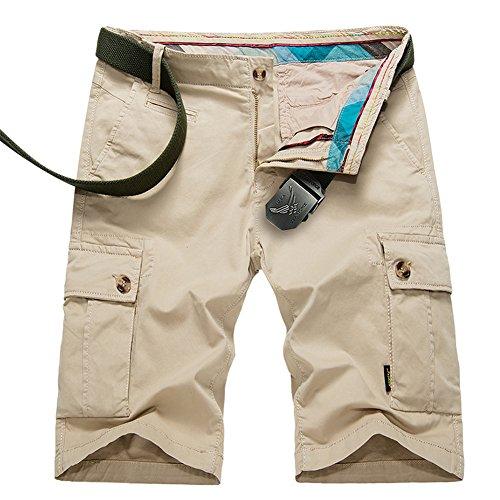 GITVIENAR Pantalon d'alpinisme Hommes Short à Demi pour Été Mince Séchage Rapide Respirant Pantalon de Sport Slim Élastique pour Camping Activités Extérieurs