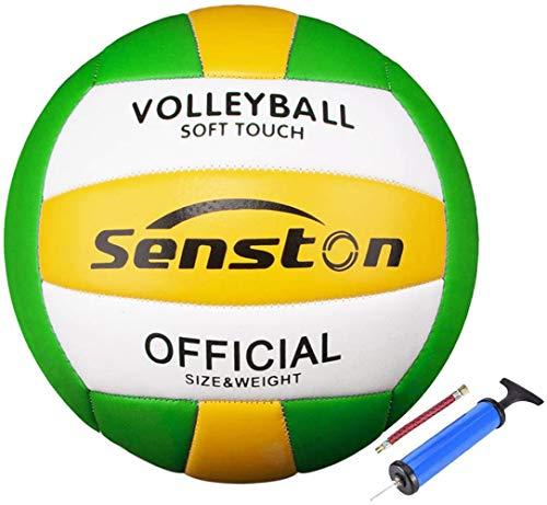 Senston Weicher Volleyball – Indoor/Outdoor Volleyball für Strand, Spiel, Fitnessstudio, Training, offizielle Größe 5