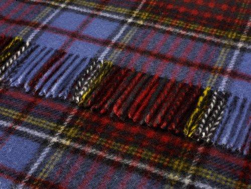 Pura lana cuadros escoceses plantas rodilla alfombra
