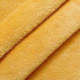 STOFFKONTOR Wellness Fleece Stoff Meterware Gelb-Orange
