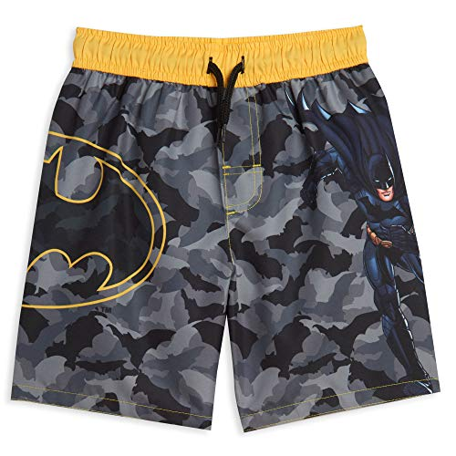 DC Comics Justice League Batman Little Boys Swim Bathing Suit Black/Gray 7