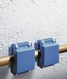 WENKO Spezial-Rohr-System, 2er Set System Kalk frei Montage Magnet Kalkfrei