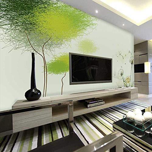 Behang 3D Muur Speciale Aanbieding Grote Mural Kleur Ruimte Langzame Druk Woonkamer Slaapkamer Slaapbank Achtergrond Behang Paardebloem Groen 200cm×140cm