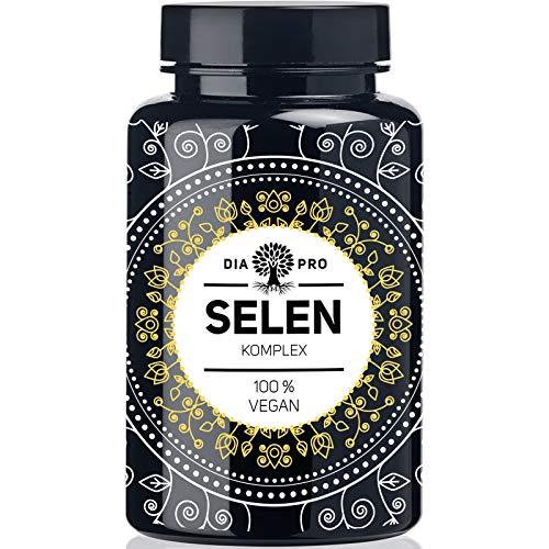 DiaPro® Selen Komplex 365 Hochdosierte Selen-Tabletten mit 200 mcg Selen pro Tablette mit Selen-Methionin und Natrium-Selenit Jahresvorrat 100% Vegan Laborgeprüft
