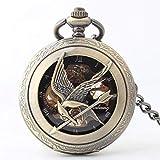 Xiaoai's shop Halbautomatische mechanische Uhr, Uhren Flip Hohlglasspiegel