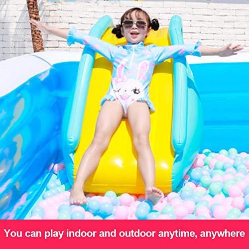 N/Z - Tobogán hinchable para piscina, con tobogán hinchable y pasos más amplios, para que los niños puedan descansar cómodamente.