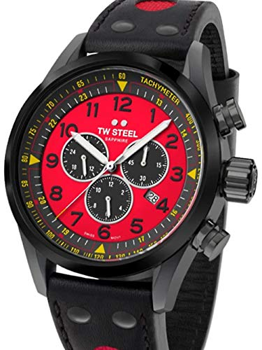 TW Steel Swiss Volante SVS304 TCR Limited Edition chronograaf horloge 48mm