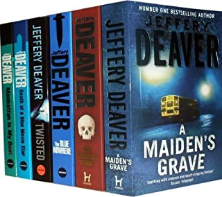 Jeffery Deaver Collection: A Maiden's Grave, the Twelfth Card, the Blue Nowhere, Twisted, Death of a Blue Movie Star, Manh...