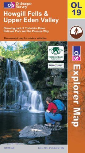 OS Explorer map OL19 : Howgill Fells and Upper Eden Valley