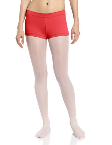 Capezio Women's Team Basic Boy Cut Low Rise Short, Red, X-Small