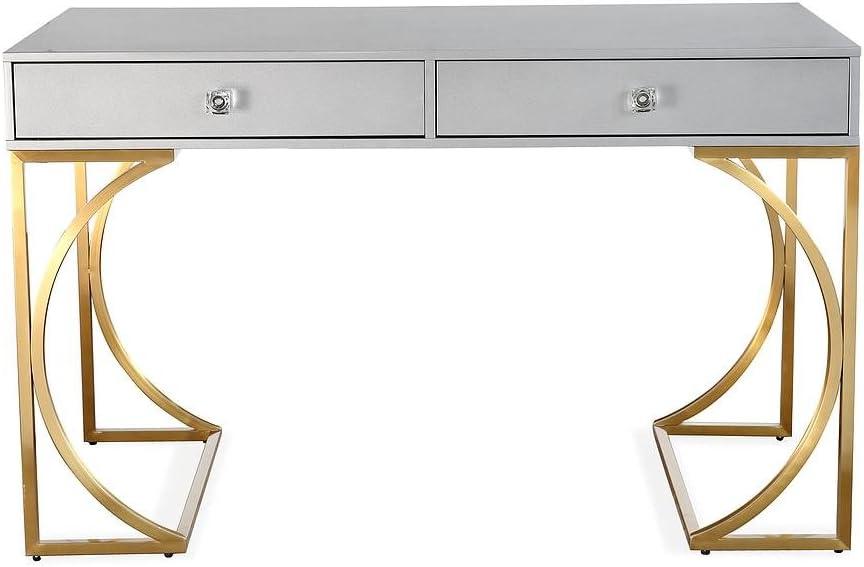 [並行輸入品] TOV Furniture スピード対応 全国送料無料 Lexie Collection Stee Stainless and Wood