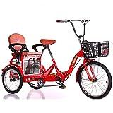WGYDREAM Dreirad Für Erwachsene Trikes 3-Rad Fahrrad Faltbares Erwachsene Dreirad Fahrrad 16 Zoll Mit Warenkorb Für Senioren Frauen Männer Trikes Erholung Shopping