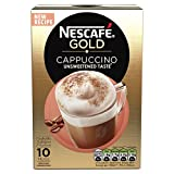 Nescaf? Gold Cappuccino Unsweetened Taste Coffee, 8 Sachets (Pack of 6, Total 48 units)