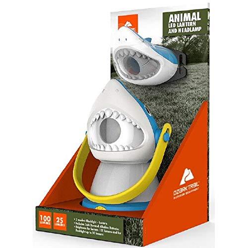 Ozark Trail Outdoor Equipment LED Lantern & Headlamp Set - Shark
