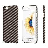 PITAKA アラミド ファイバー iPhone 6/iphone 6sケース (黒/ローズゴールド ツイル柄)