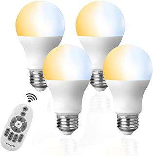 LED電球 4個セット タイマー機能付き リモコン6W E26調光調色( 昼光色 昼白色 電球色)60W白熱電球形相当,テーブルランプ、天井シャンデリアに最適,常夜灯 広配光タイプ 省エネ