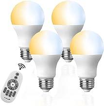 LED電球 4個セット タイマー機能付き リモコン6W E26調光調色( 昼光色 昼白色 電球色)60W白熱電球形相当,テーブルランプ、天井シャンデリアに最適,常夜灯 広配光タイプ 省エネ.