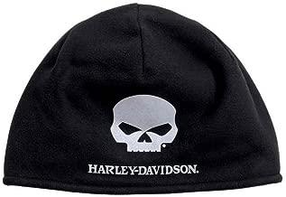 Harley-Davidson Men's Willie G Skull Cold Weather Fleece Hat, Black 99430-16VM