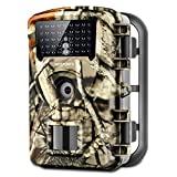 """Trail Game Camera, 1080P Waterproof Hunting Scouting Cam for Wildlife Monitoring with Night Vision 2.4"""" LCD IR LEDs 88W"""