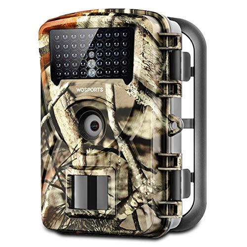 Wosports Wildkamera 20MP 1080P Jagdkamera Überwachungskamera mit Bewegungsmelder Nachtsicht Wasserdicht Nachtsichtkamera für Jäger Garten Outdoor
