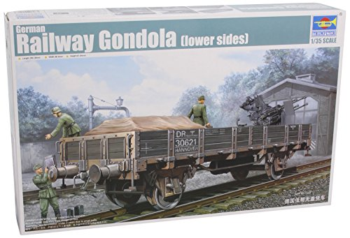 Trumpeter 01518 Modellbausatz German Railway Gondola (Lower sides)