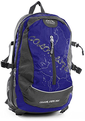 Rugzak Handtas Voor Vrouwen Mannen, Medium Lichtgewicht Nylon Waterbestendige Rugzak Casual Daypack, Blauw