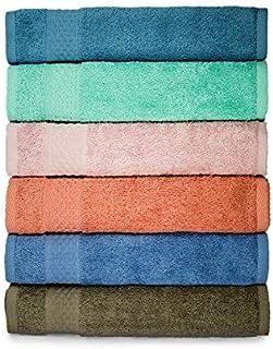 ست لباس های تمیز صورت ، تمیز ، 100 C پنبه ، جاذب بالا ، 6 رنگ 6 بسته ، رنگ سایز 13 x13 عمیق