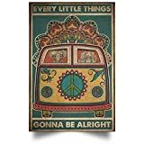Tin Sign Hippie Bus Every Little Things Gonna...