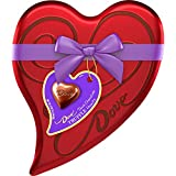 DOVE Valentine's Dark Chocolate Candy Truffles Heart Gift Box 6.5-Ounce Tin, 18 Pieces